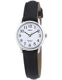 Timex T20441PF - Reloj de cuarzo para mujeres, correa de piel, sumergible a 30 metros, color negro