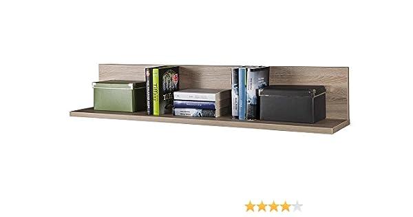 Composad pensile libreria a muro con mensola colore rovere chiaro