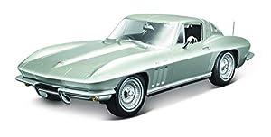 Maisto-31640S Chevrolet Corvette, Color Plateado (31640S
