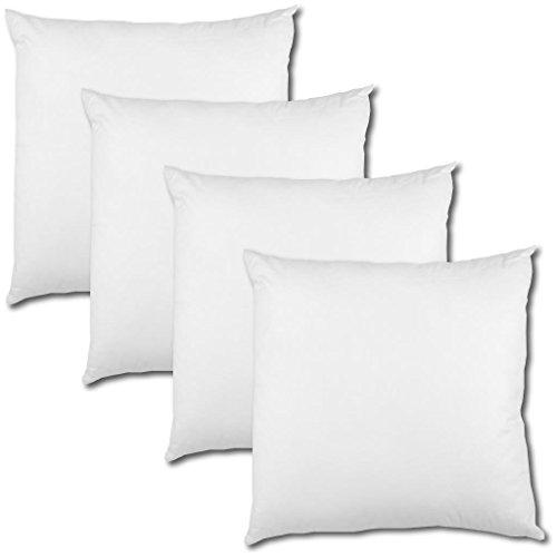 Bestlivings 4er Set Polyester Vlies Füllkissen 30x30cm Weiß, Bei 30° Waschbar, Viele Größen (Polyester Kopfkissen)