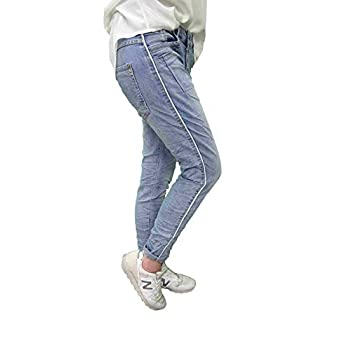 Karostar Stretch Baggy Boyfriend Jeans Nieten Seitenstreifen New Denim