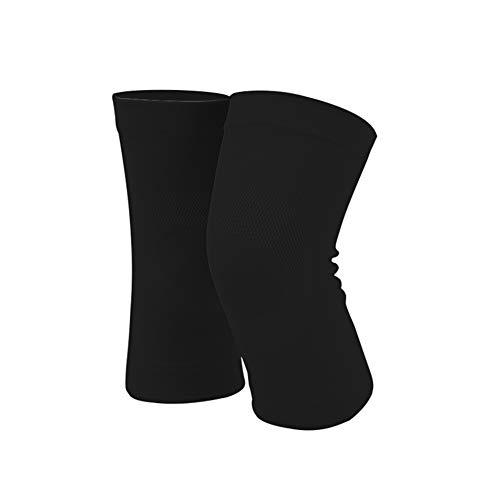 LIAWEI Klimatisiertes Zimmer Monat Postpartum Sport Alter Mann Warm Halten Joint Knie Lose Kniepolster Engagiert Schutzausrüstung (Color : Black, Size : L) -