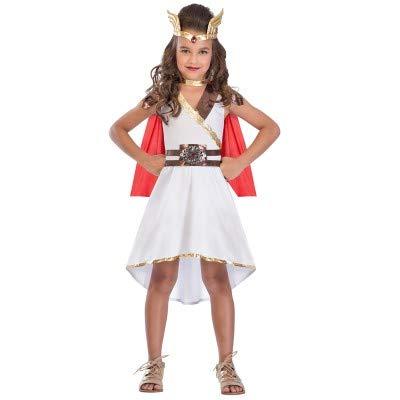 (Generique - Göttinnen Kostüm für Mâdchen weiß-rot 152/158 (12-14 Jahre))