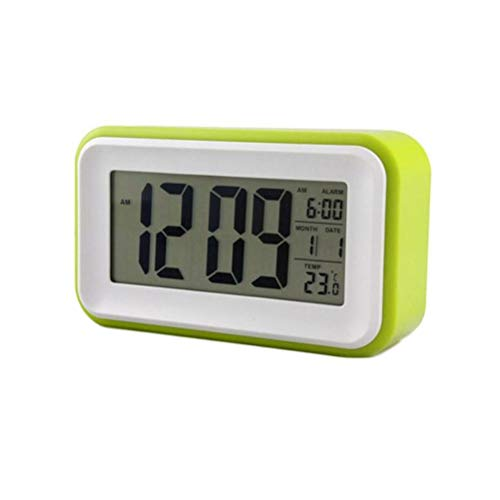 Magic Sea Despertador/Reloj Inteligente con Sensor Táctil Electrónico/LED Luminoso con Pantalla Grande Táctil Despertador,Green