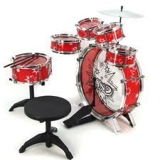 11pc-Kids-Boy-Girl-Drum-Set-Musical-Instrument-Toy-Playset-RED
