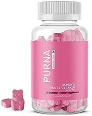 Purna Immunity Multivitamin Strawberry Gummies for Women (Vitamins A, C, D, E, B12 and 8 Minerals), 30 Gummy B