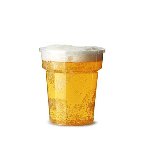 500x 284g 1/2Pint Flexi klar Kunststoff Tassen mit CE-Markierungen–Strong Einweg-Bier Gläser