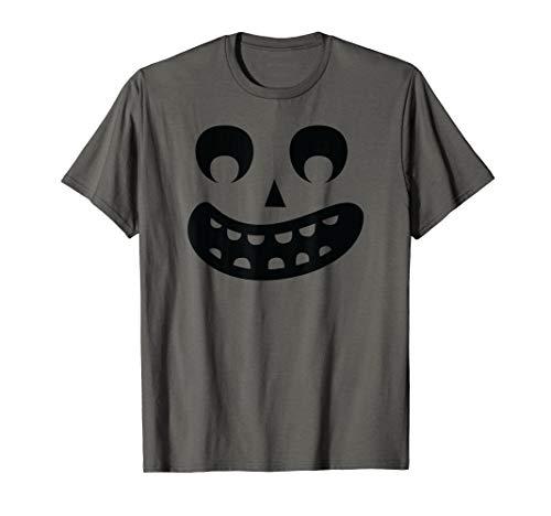 Furchtsame Gesicht Kinder Kostüm Geist - Furchtsames Gesicht Jack O Laternen-Halloween-großes Lächeln T-Shirt