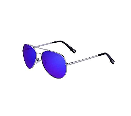 ZTMN Polarized Sunglasses Men 's Lightweight Frame UV-Schutzbrille Multi-Color Optional (Farbe: Silver Frame Navy Blue Piece)