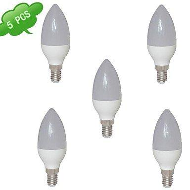 FDH 7W E14 Luces de velas LED SMD2835 C35 15 560 lm Blanco cálido de 85-265 V CA 5 PC