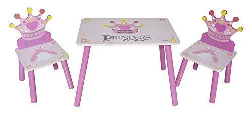 Kiddi Style Principesse Set Tavolo e 2 Sedie per bambini  in Legno