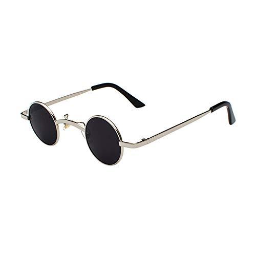 Haodasi Metall Kleine Runde Sonnenbrille Vintage Steampunk Brillen Mode UV400 Gläser