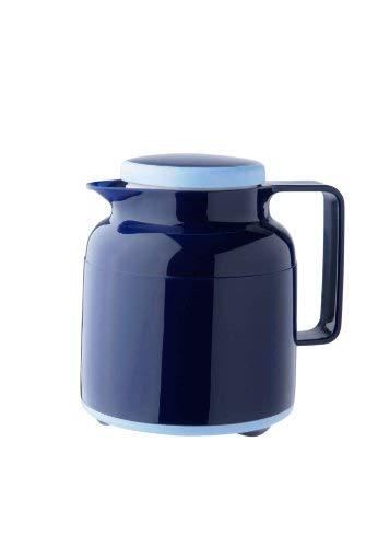 Helios Wash Pro Kunststoff-Isolierkanne mit Drehverschluss 1,0 l dunkelblau spülmaschinenfest - Kolben Kleinen Thermoskanne