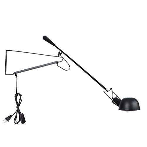 Wandleuchten Langarm Swing Arm Plug Nachttischlampe, Flexibles Armzeichnen/Büro/Hardwire Lamp Polierte Farbe/Schwarz Mattes Finish / E27 Einfach Wohnzimmer Industrielle Lesewandleuchte -