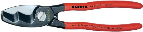 Knipex 37065 200 mm Câble uniquement en cuivre ou aluminium cisaillement