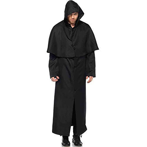 Womens Alle Kostüm Ritter - Hcxbb-b Halloween Herren Kostüm, Kapuzen Mönch Priester Robe Mantel, Ritter Party Cosplay Kostüm Outfit (Farbe : Black, Size : M)