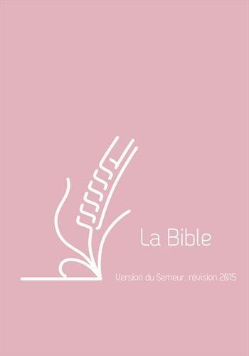 Bible semeur poche couverture vivella rose zip