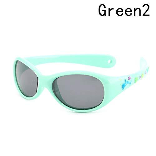 CCGKWW Flexible Kleine Baby-Sonnenbrille Jungen Kleine Polarisierte Linsen Spiegeln Kinder Sonnenbrille Kind 1-3 Jahre