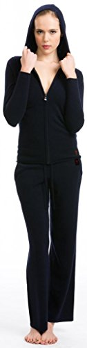 Pantaloni Larghi Donna - 100% Cachemire - Citizen Cashmere Blu scuro
