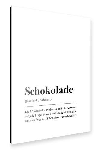 artboxONE Alu-Print 60x40 cm Schokolade Definition (deutsch) von Künstler Pulse of Art