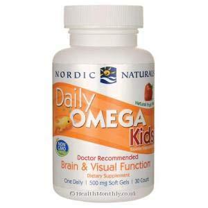 Omega diarias de los niños, el sabor de frutas naturales, 500 mg - Nordic Naturals