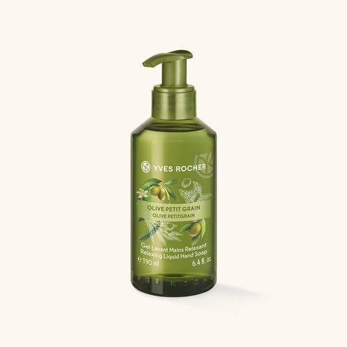 Yves Rocher LES PLAISIRS NATURE Flüssigseife für die Hände Olive-Petitgrain, pflegende Handseife, 1 x Dosierspender 190 ml -