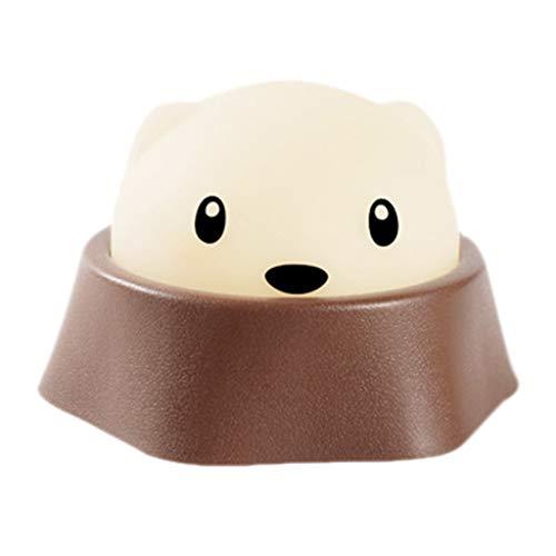 MA87 Roman schöne Hamster Nachtlicht Kinder Schlafzimmer Dekor Mini LED Nachtlampe (Männlicher Hamster)