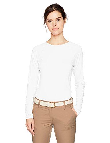 Cutter & Buck Damen Stretch UPF 50+ Sun Protection Long Sleeve Solar Guard Shirt Hemd, weiß, Mittel -