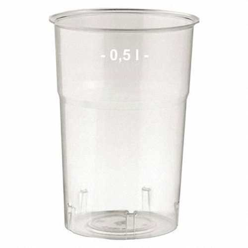 100 Stk. Brillant klare Trinkgläser 500ml mit Füllstrich, Ø 95 mm