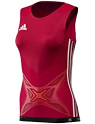 adidas Laufshirt adipower Box Tank Damen Top Triathlon Rot X12300