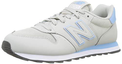New Balance Damen 500 Sneaker, Grau (Light Cliff Grey/Pink Mist SCP), 40.5 EU