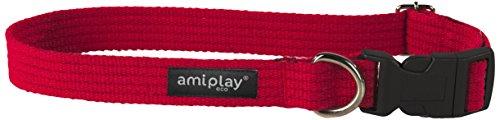 ami-play-cotton-dog-soft-and-adjustable-collar-medium-red