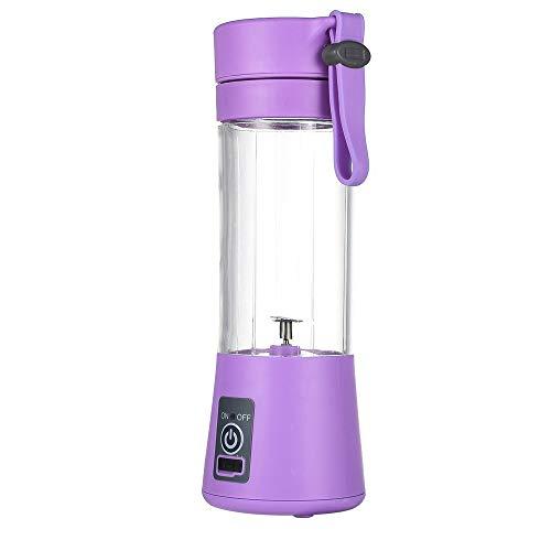 Rosepoem USB wiederaufladbare Saftschale,Mini Electric Fruit Mixer Saft Tasse Lebensmittel Chopper Chop Obst Maschine mit 6-Seiten-Klinge - Lila