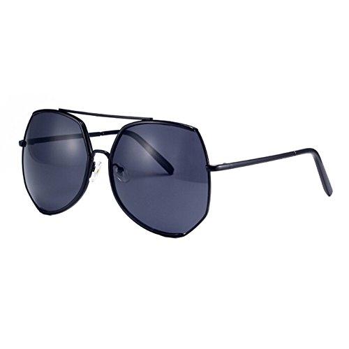 Frauen-Maxi-Mode-Flash-Spiegel-Objektiv Sonnenbrillen Brillen, Schwarz