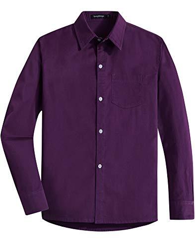Spring&Gege Camisa Vestir Sarga algodón Uniforme