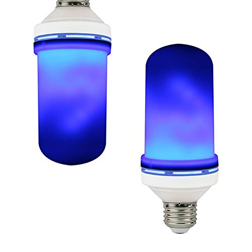 Bulb 4 Modes Flashing Blue Flame Effect E27 Incandescent for Family/Bar/Wedding/Party/Garden Decoration Simulation Dynamic Flame Lamp. ()