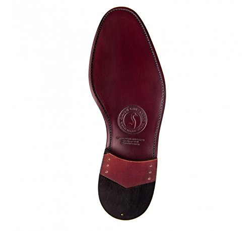Masaltos-chaussures pour hommes sur manière Invisible Augmenter votre taille jusqu'à 7cm Modèle Detroit - Bordeauxrot