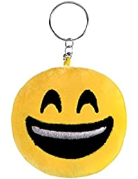Pendentif Porte-clés porte clé en peluche Ø 6 cm Smiley doux Emoji émoticônes idée cadeau ou simplement comme un jouet en peluche pour s'exprimer Portez le dans votre sac ou en pendentif