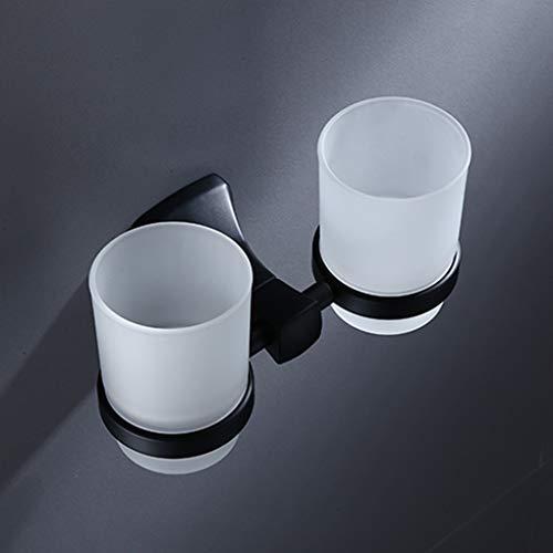 Glas-antik-zahnbürste-halter (LUDSUY Lackierpistole Cup Trommel-Halter Schwarz Grind Glass Cup Zahnbürste Zahnbecherhalter-Badezimmerzubehör)