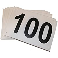 pdgy: Professionelle Startnummern 101 Stk. / Nummern 0-100