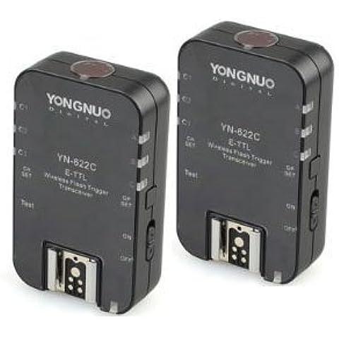 Yongnuo YN622 YN-622C - Disparador inalámbrico de flash TTL con 2 receptores para Canon