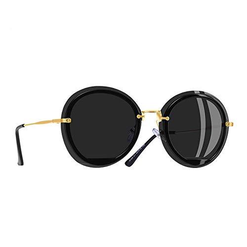 WDXDP Sonnenbrillen Übergroße Runde Sonnenbrille-Schatten Für Frauen Arbeiten Weibliche Polarisierte Sonnenbrille-Art Uv400C1Gray Um