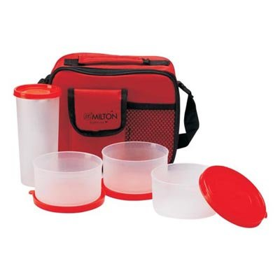 Milton Meal Combi Plastic Lunch Box, Red