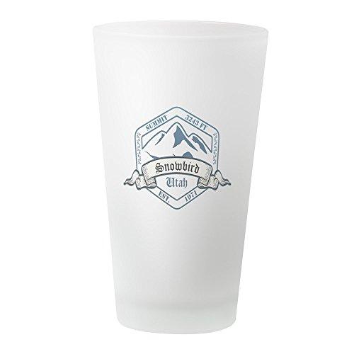 CafePress Snowbird Ski Resortglas Utah Pintglas frosted Utah Ski Snowboard