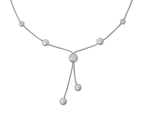 ORPHELIA Mujer Collar de plata 925rodiada mate 45cm–ZK de 2791