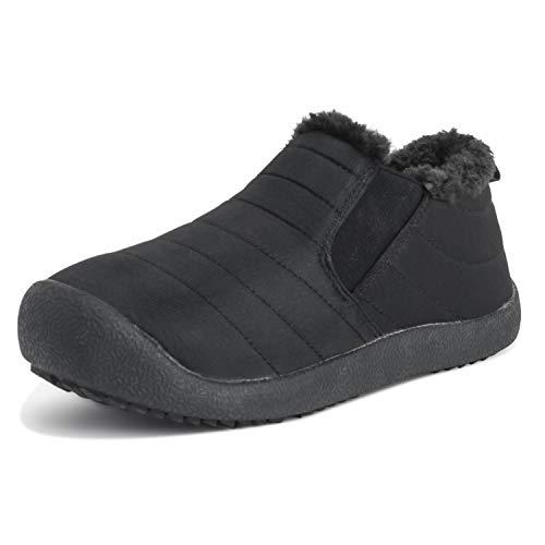 save off dfa47 a4202 Adultos Unisex Medio Durable Piel Sintética Invierno Calentar Al Aire Libre  Lujo Zapatillas Zapatos - W8