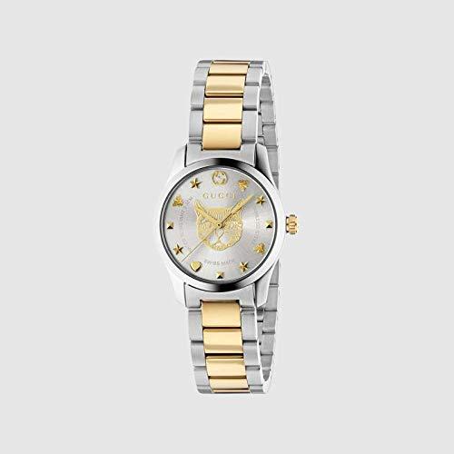 Reloj Gucci de Mujer G-Timeless 27 mm de Acero Inoxidable de Oro felino YA126596