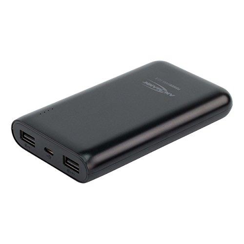ANSMANN Powerbank 10000mAh & 2.1A Ausgang TÜV geprüft - Power Bank 2 USB Ports & LED Statusanzeige - Ladegerät für alle Handy Smartphone Tablet Apple iPhone iPad Samsung Kindle uvm - Externer Akku