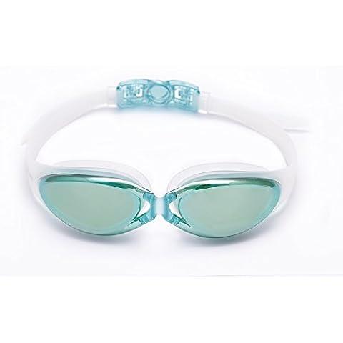 Bezzee-Pro Swimming Goggles Anti-Fog Mirrored Lenses 100%
