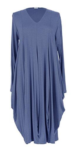 texture-online-ladies-women-italian-lagenlook-quirky-long-sleeve-v-neck-plain-viscose-jersey-tulip-l